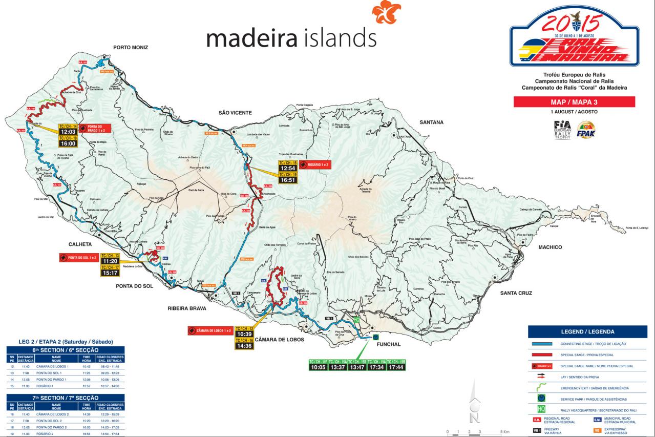 mapa da madeira detalhado Classificativas e Mapas do Rali Vinho Madeira 2015 [01 agosto] mapa da madeira detalhado