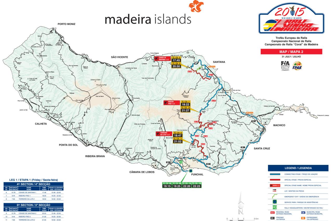 mapa da madeira detalhado Classificativas e Mapas do Rali Vinho Madeira 2015 [31 julho] mapa da madeira detalhado